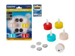 96 Bulk Led Tealights 4pc Asst Colors