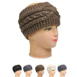 36 Bulk Knitted Women Woolen Headband