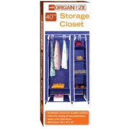 5 Bulk Storage Closet Navy Blue