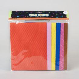 72 Bulk 6ct Foam Sheets W/embossed Patterns/colors