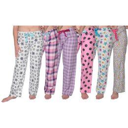 36 Bulk Ladies Flannel Pajama Bottoms