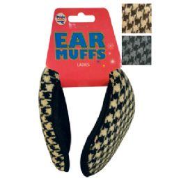 48 Bulk Women's Ear Muff Knitted Assorted Colors