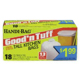 12 Bulk Handi Bag Good & Tuff Trash Bag