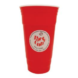 36 Bulk Plastic Cup 32 Oz Double Wall Insulated Red Jumbo