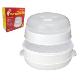 12 Bulk 2 Tier Microwave Steamer With Steam Vent