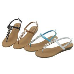36 Bulk Ladies' Fashion Sandals Assorted Colors Size 5-10