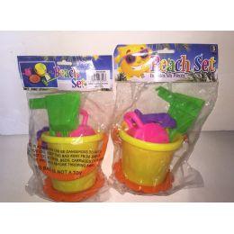72 Bulk Beach Toy Set 6pc Set