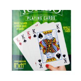 12 Bulk Jumbo Novelty Playing Cards