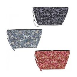 60 Bulk Quilted Cosmetic Make Up Bag In Pretty Paisley