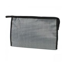 60 Bulk Large Cosmetic Make Up Bag In Houndstooth
