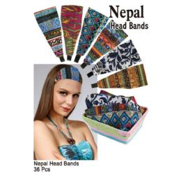 36 Bulk Nepal Pattern Head Bands