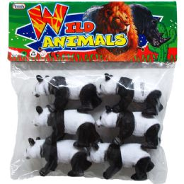24 Bulk Six Piece Plastic Toy Panda