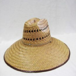 4754d88c5d61dc Wholesale Mens Straw Hat in Dark Brown - at - bluestarempire.com