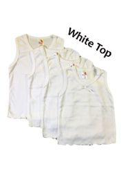 36 Bulk Strawberry Girl Singlet In White