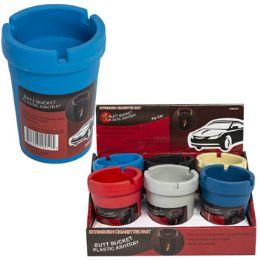 36 Bulk Assorted Color Car Ashtray Butt Bucket
