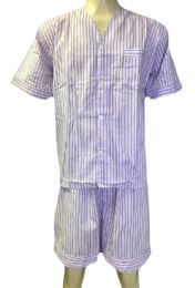 48 Bulk Comfort Zone Mens Short Leg Pajamas