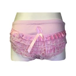 36 Bulk Kcb Girls Satin Ruffle Panty Size 1-3 Assorted Color