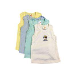 36 Bulk Strawberry Boys Infant Tank Top W/embroidered Design
