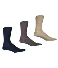 216 Bulk Men's Nylon Dress Sock In Assorted Colors
