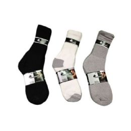 144 Bulk Boys Sport Sock Crew In Black Size 9-11