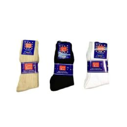 144 Bulk Boys Nylon Dress Socks Size 1-3 In Black
