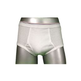 252 Bulk Boys Fly Front White Brief In Size Small