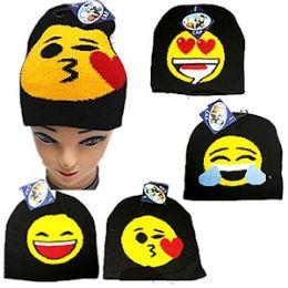 72 Bulk Knit Emoji Beanie Ski Cap.