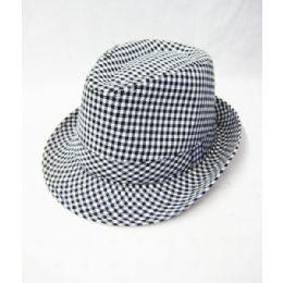 653aba4093073 Wholesale Checker Fedora Hat - at - bluestarempire.com