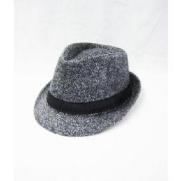 ec15d4484c2fd Wholesale Grey Wool Fedora Hat - at - bluestarempire.com