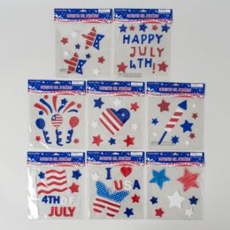 72 Bulk Gel Stickers Patriotic