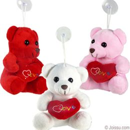 "144 Bulk Mini Plush ""i Love You"" Bears W/ Window Hanger."