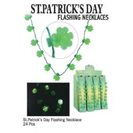 24 Bulk Saint Patricks Day Flsh Necklaces