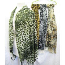 36 Bulk Cheetah Printed Scarves