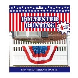 24 Bulk Bunting Patriotic Polyester