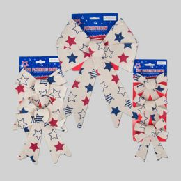 72 Bulk Bow Patriotic 3asst Sizes Vintage Look