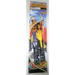 72 Bulk Indian Bow And Arrow Archery Set