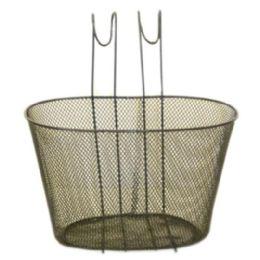12 Bulk Black Wire Basket For Bike 30x23x19cm