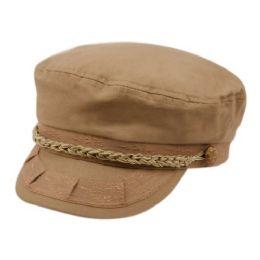 12 Bulk Cotton Greek Fisherman Hats In Khaki