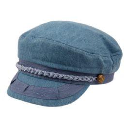 12 Bulk Cotton Greek Fisherman Hats In Blue Jeans