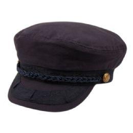 12 Bulk Cotton Greek Fisherman Hats In Navy