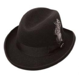 6 Bulk Homburg Wool Felts Hats In Black