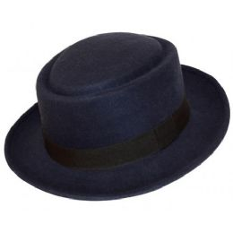 12 Bulk Fedora Hats In Navy