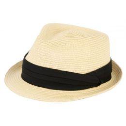 24 Bulk Straw Braid Fedora Hats
