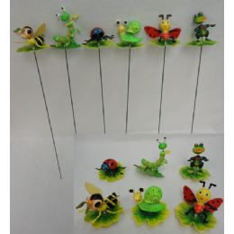 144 Bulk Yard Stake [insects On Leaves/lily Pad Assortment]