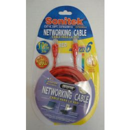 12 Bulk 10ft Networking Cable