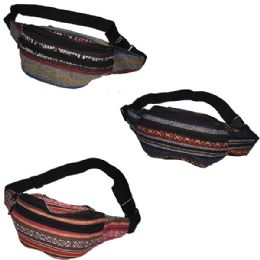 120 Bulk Fabric Fanny Bag With An Adjustable Waist Strap (dimensions: 15 X 5 X 3)