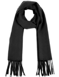 18 Bulk Cashmere Feeling Solid Plain Scarf In Black