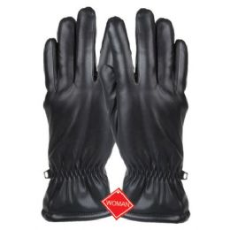12 Bulk Ladies Faux Leather Glove