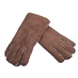 24 Bulk Men's Winter Faux Suede Glove W/sherpa Fleece Lining