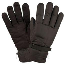 12 Bulk Men Winter Ski Waterproof Glove With Thermal Fleece Lining